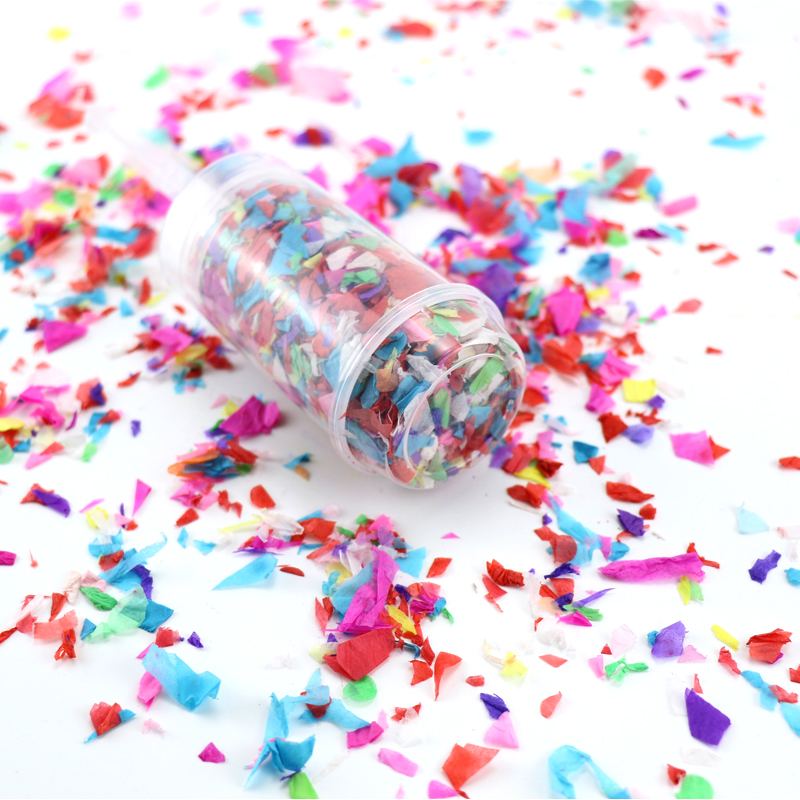 Colorful Paper Confetti Push Pop