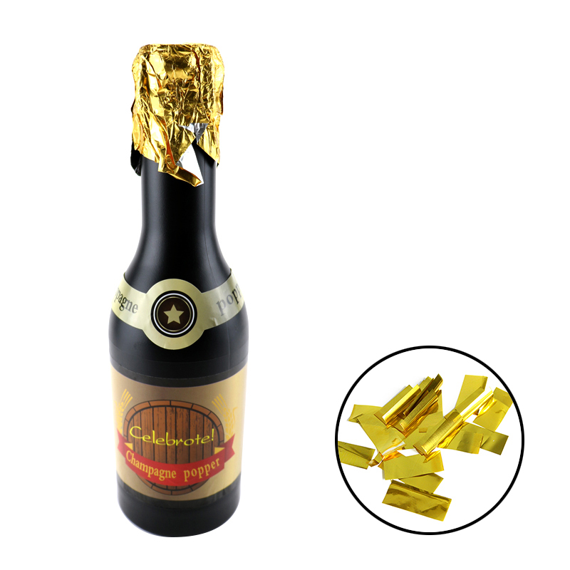 Gold Metallic Foil Champagne Popper