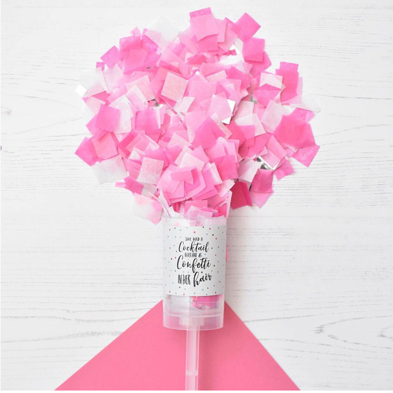 Pink Paper Slip Push Pop